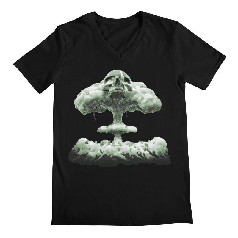 Nuclear Skull Cloud Men's V-Neck by Lee Petty Art Stuff!