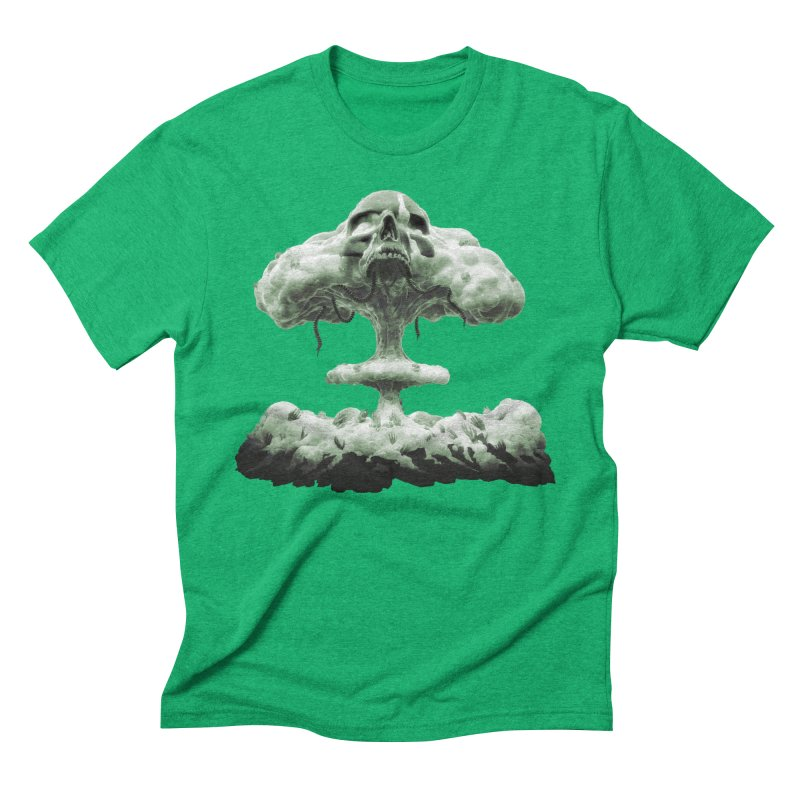 Nuclear Skull Cloud Men's Triblend T-Shirt by Lee Petty Art Stuff!