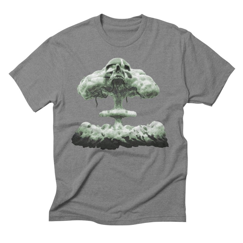 Nuclear Skull Cloud Men's Triblend T-Shirt by Lee Petty Art Stuff!