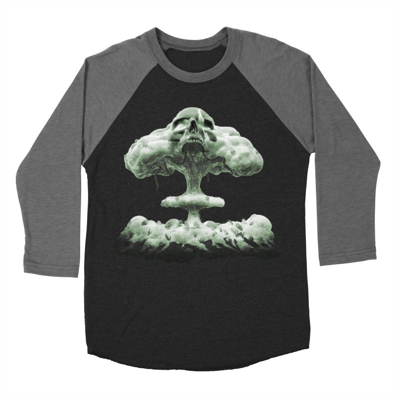 Nuclear Skull Cloud Women's Baseball Triblend Longsleeve T-Shirt by Lee Petty Art Stuff!