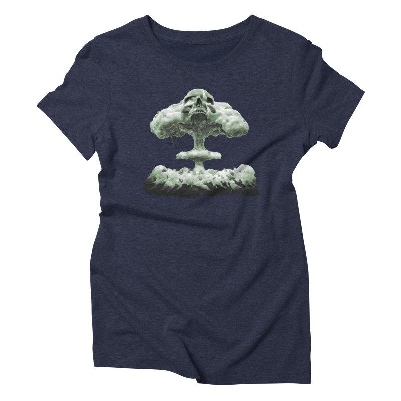 Nuclear Skull Cloud Women's T-Shirt by Lee Petty Art Stuff!