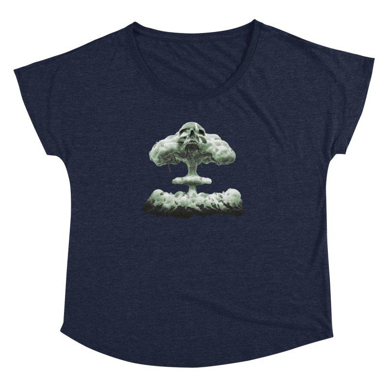 Nuclear Skull Cloud Women's Dolman Scoop Neck by Lee Petty Art Stuff!
