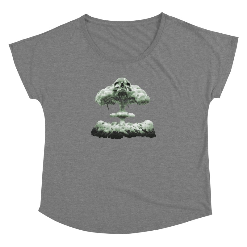 Nuclear Skull Cloud Women's Dolman Scoop Neck by Lee Petty Art Stuff!