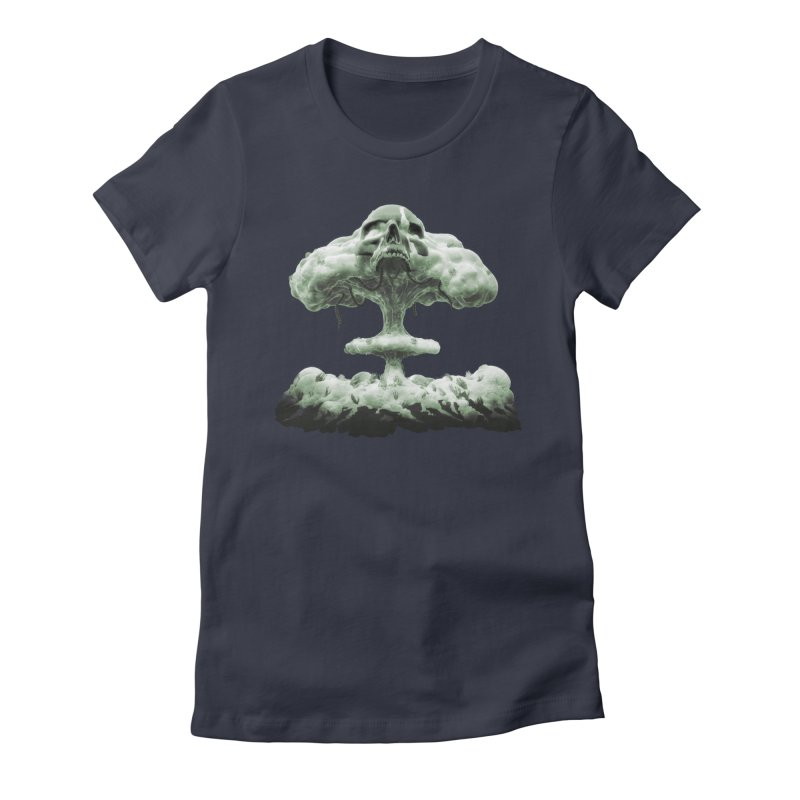 Nuclear Skull Cloud Women's Fitted T-Shirt by Lee Petty Art Stuff!