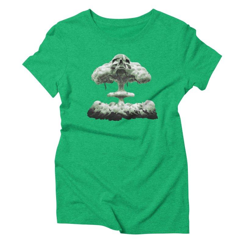 Nuclear Skull Cloud Women's Triblend T-Shirt by Lee Petty Art Stuff!