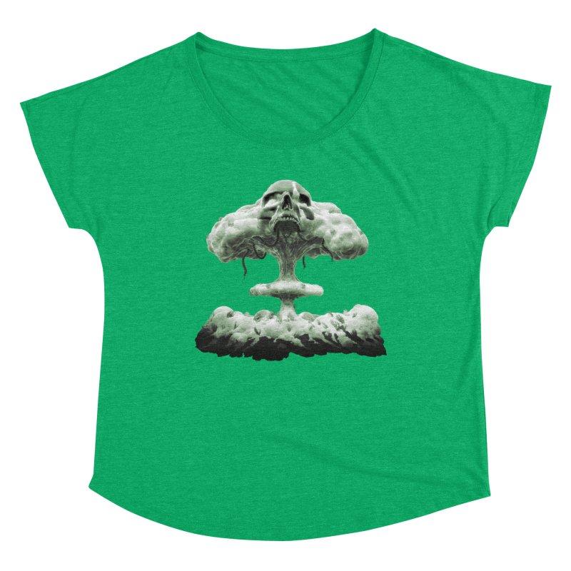 Nuclear Skull Cloud Women's Scoop Neck by Lee Petty Art Stuff!