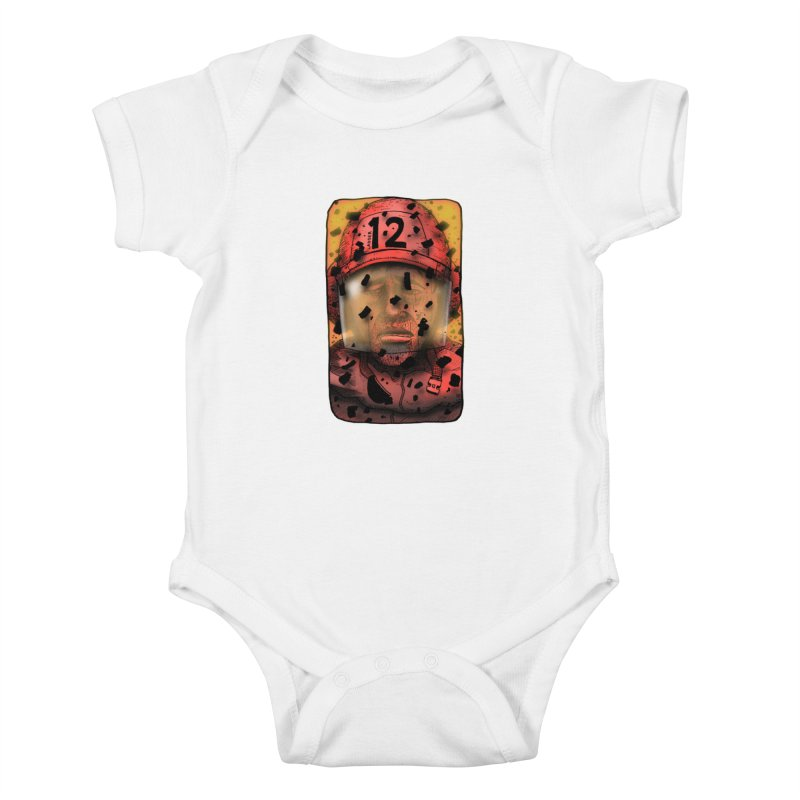 Exhausted Kids Baby Bodysuit by leegrace.com