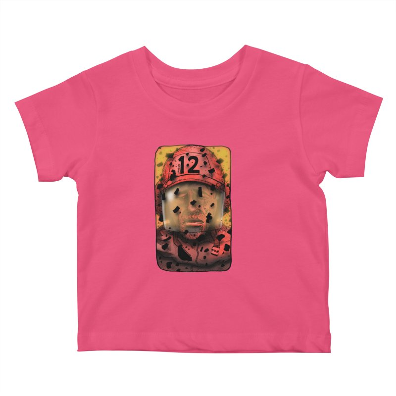 Exhausted Kids Baby T-Shirt by leegrace.com