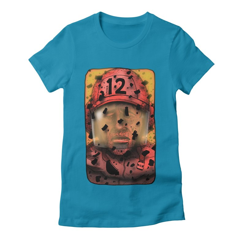 Exhausted Women's Fitted T-Shirt by leegrace.com