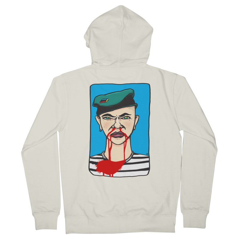 Flowing Men's French Terry Zip-Up Hoody by leegrace.com