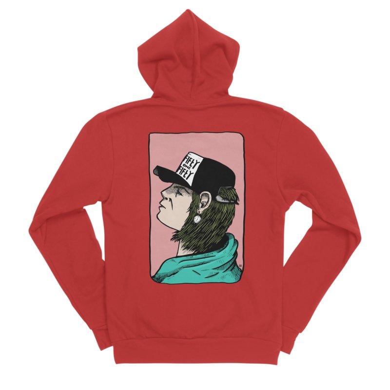 Clock Men's Sponge Fleece Zip-Up Hoody by leegrace.com
