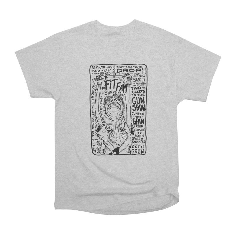 Get on the Gain Train! Women's Heavyweight Unisex T-Shirt by leegrace.com