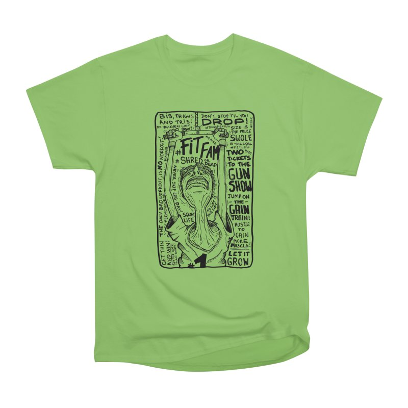 Get on the Gain Train! Women's Heavyweight Unisex T-Shirt by leegrace.com