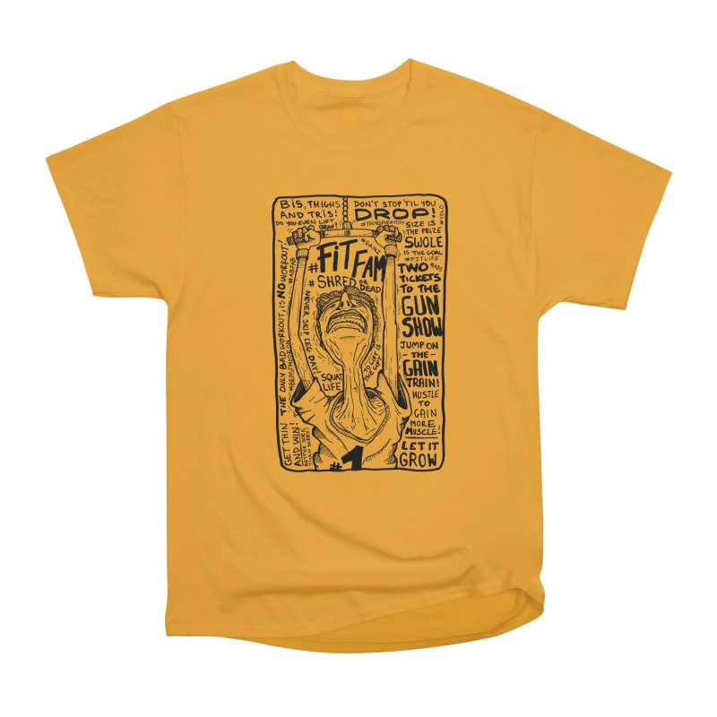 Get on the Gain Train! Men's Heavyweight T-Shirt by leegrace.com