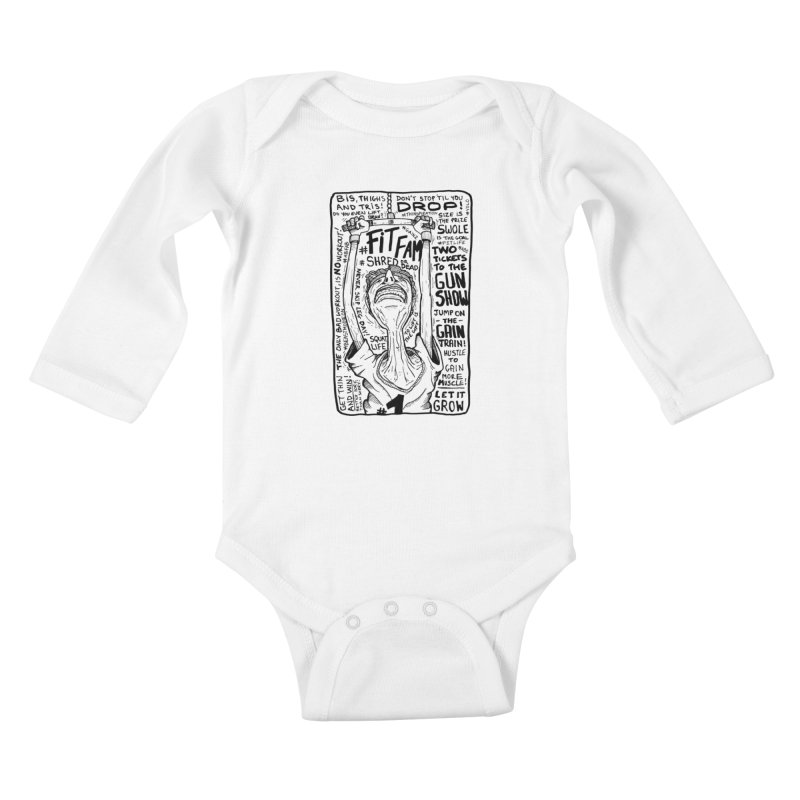 Get on the Gain Train! Kids Baby Longsleeve Bodysuit by leegrace.com