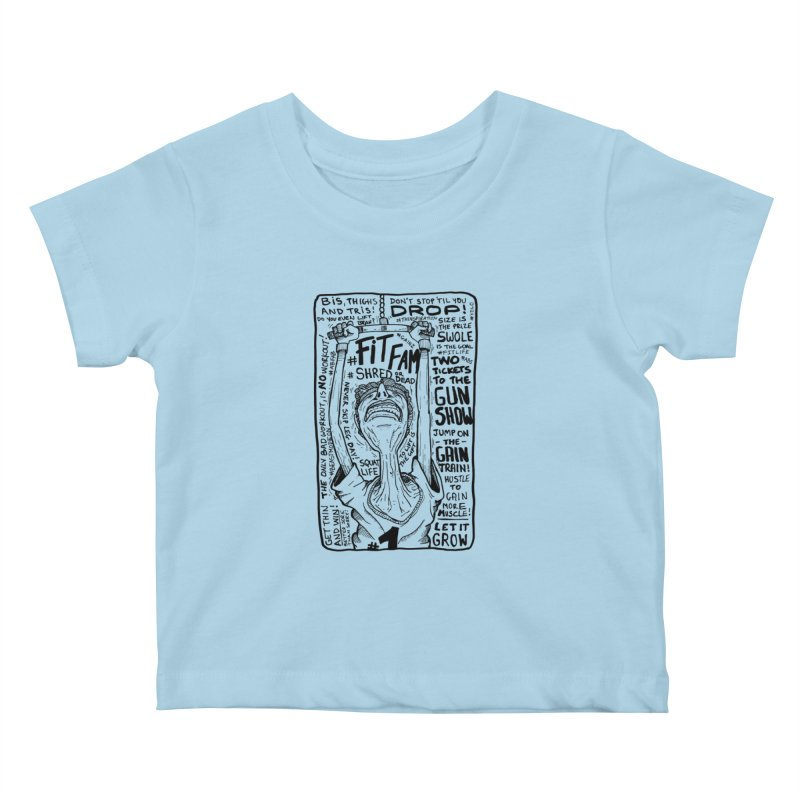 Get on the Gain Train! Kids Baby T-Shirt by leegrace.com