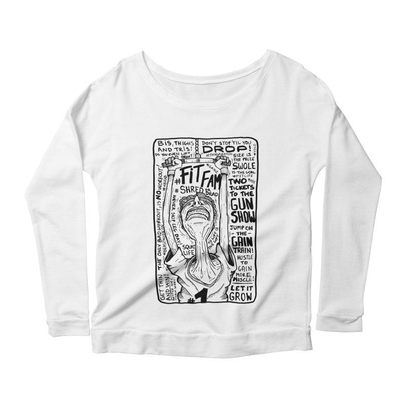 Get on the Gain Train! Women's Scoop Neck Longsleeve T-Shirt by leegrace.com