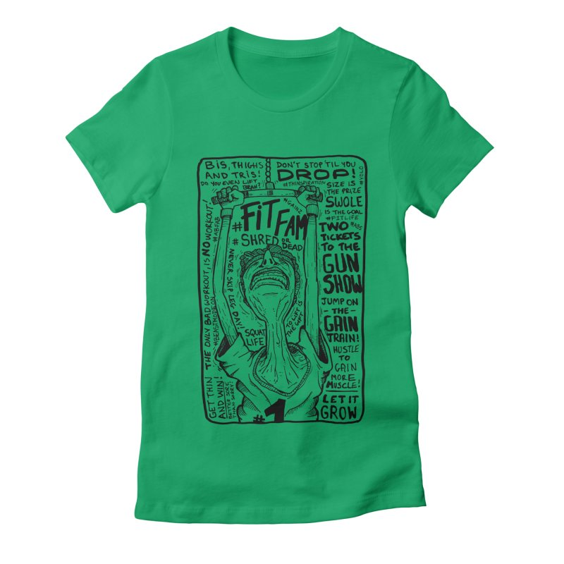Get on the Gain Train! Women's Fitted T-Shirt by leegrace.com
