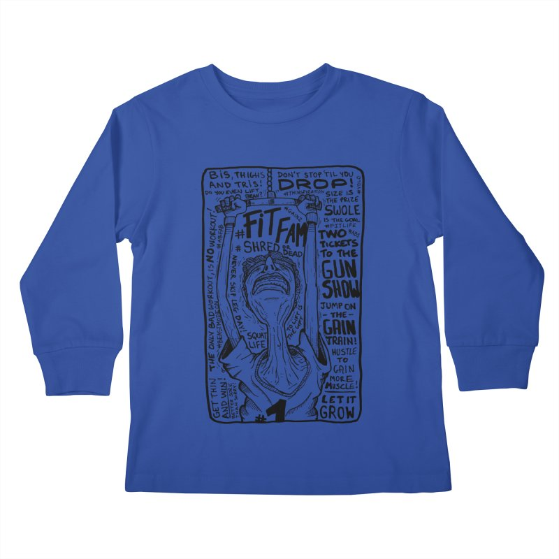 Get on the Gain Train! Kids Longsleeve T-Shirt by leegrace.com