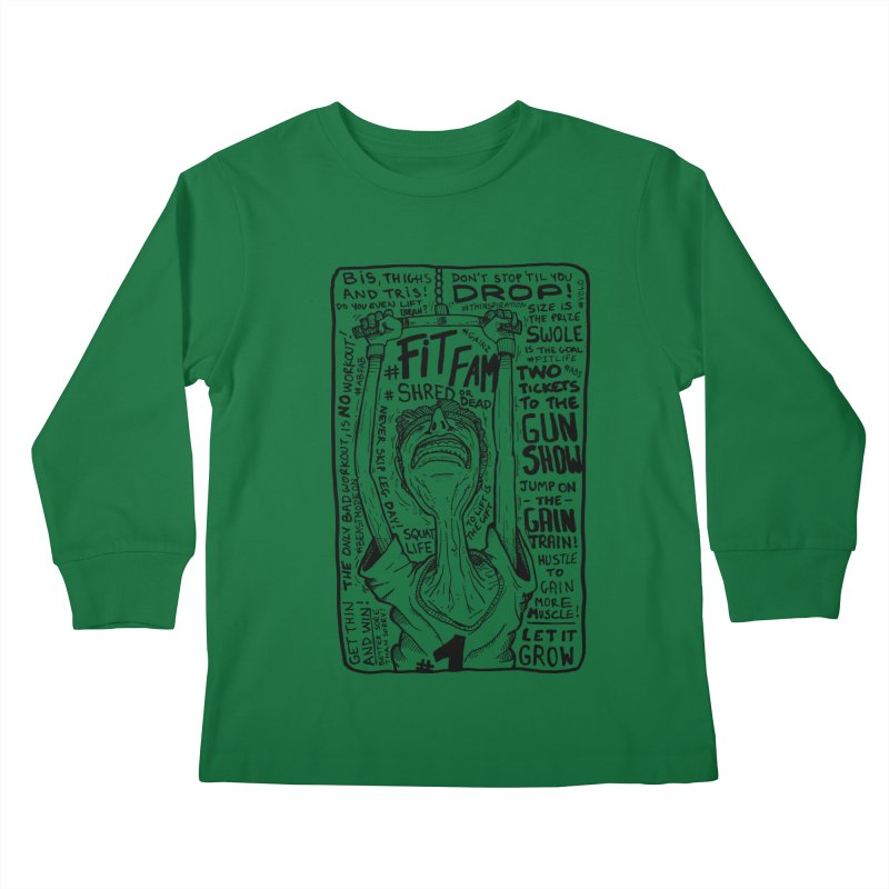 Get on the Gain Train! Kids Longsleeve T-Shirt by leegrace.com