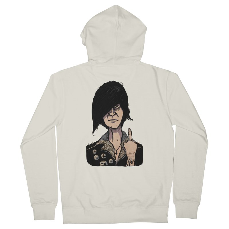 F Off Men's French Terry Zip-Up Hoody by leegrace.com