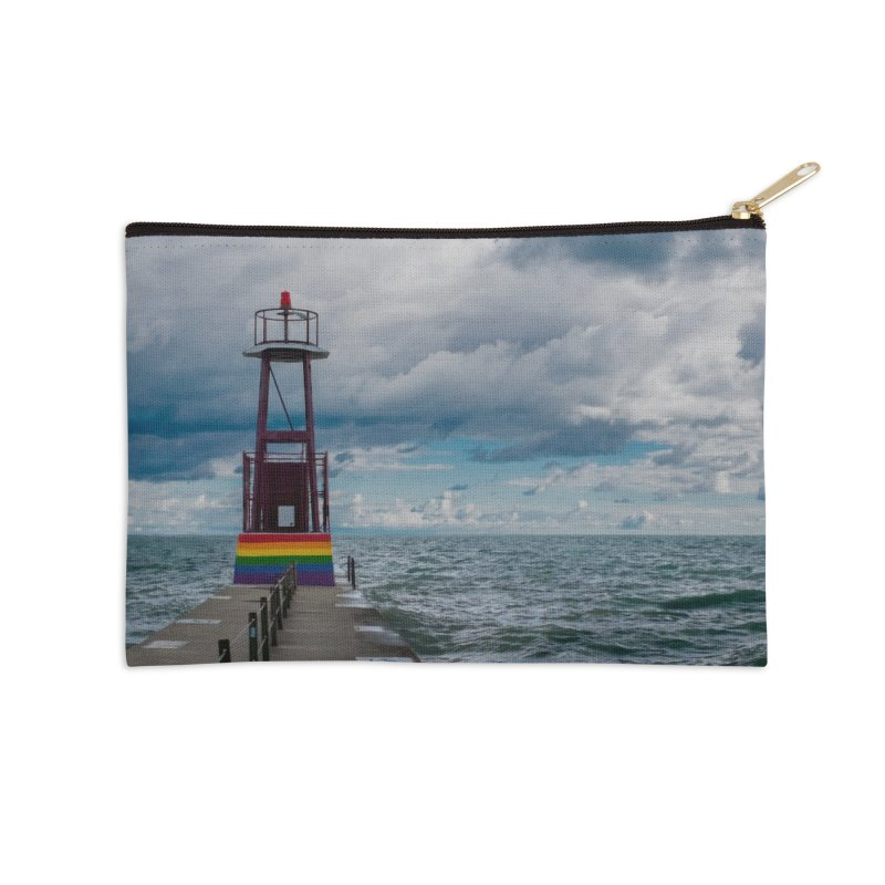 Rainbow Pier Accessories Zip Pouch by leff.photo