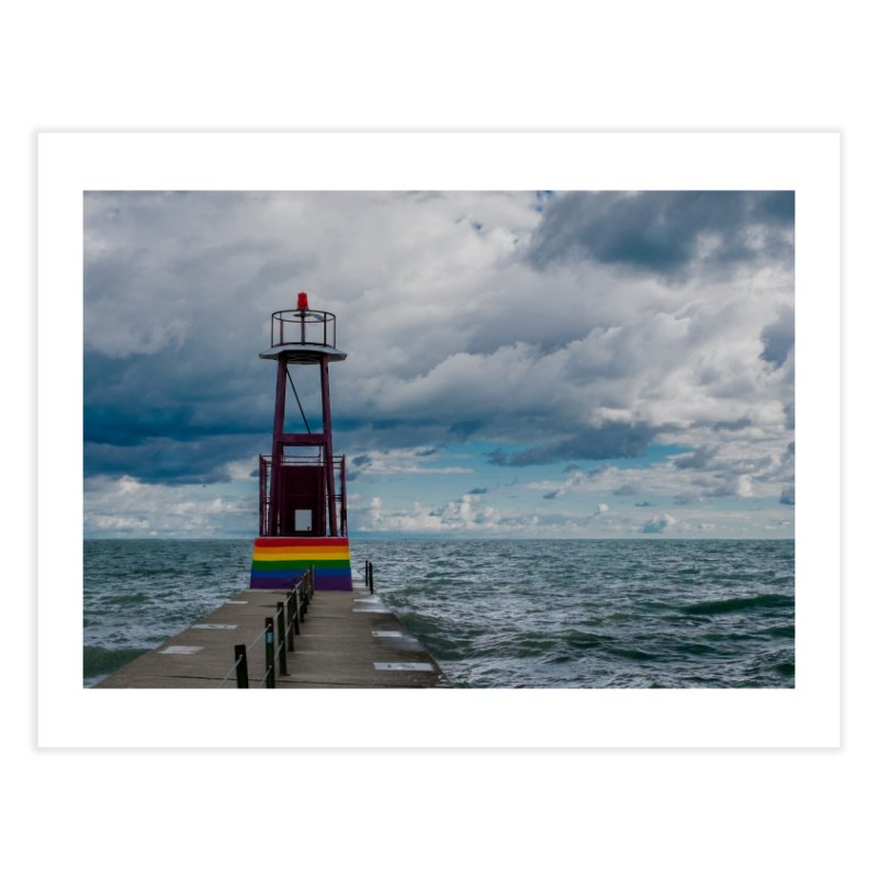 Rainbow Pier Home Fine Art Print by leff.photo