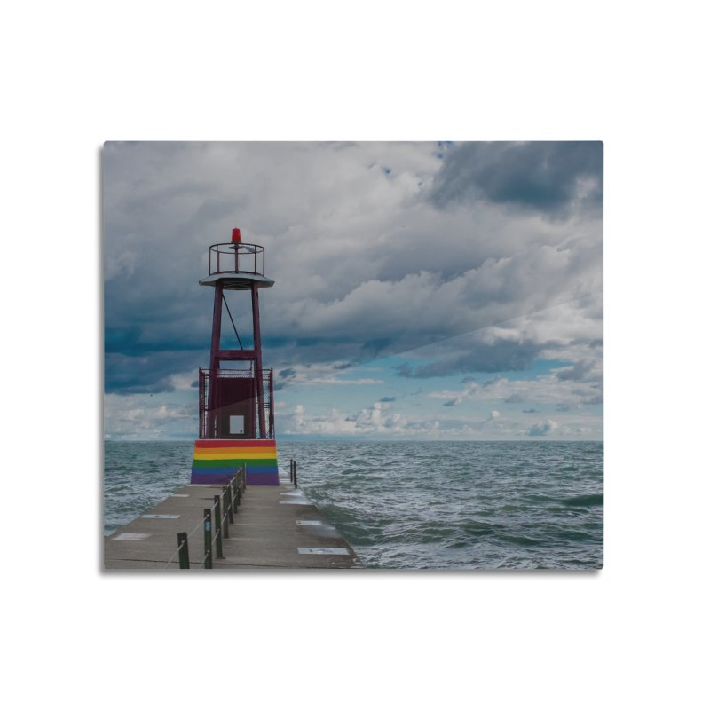 Rainbow Pier Home Mounted Aluminum Print by leff.photo