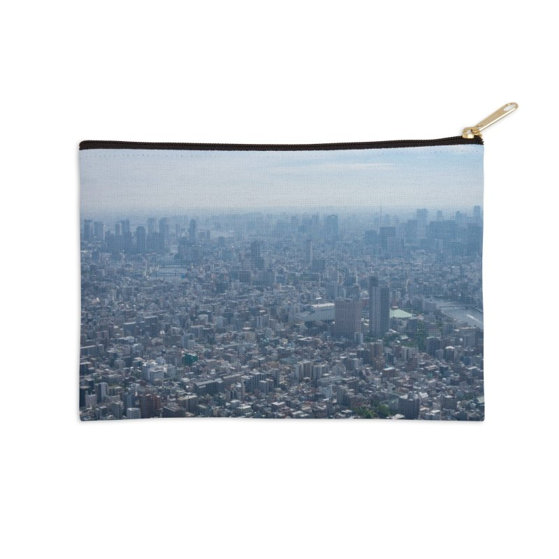 Tokyo from Above Accessories Zip Pouch by leff.photo