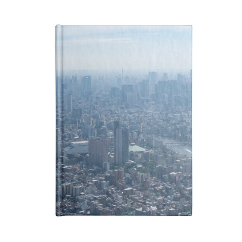 Tokyo from Above Accessories Blank Journal Notebook by leff.photo