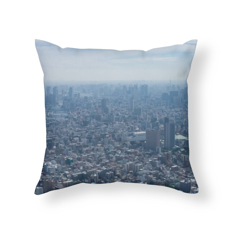 Tokyo from Above Home Throw Pillow by leff.photo