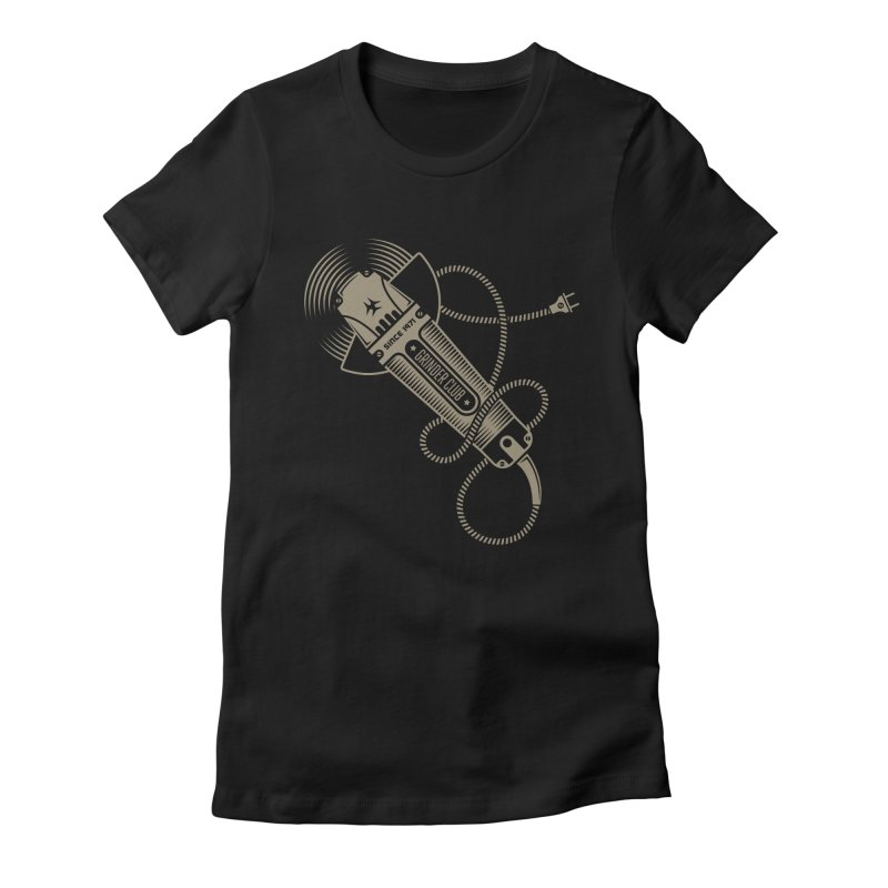 Grinder Club Women's Fitted T-Shirt by leffegoldstein's Artist Shop