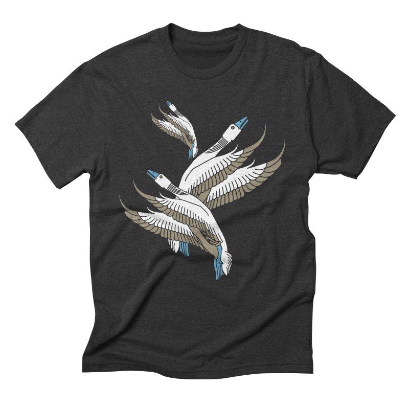 Blue Goose Men's Triblend T-Shirt by leffegoldstein's Artist Shop