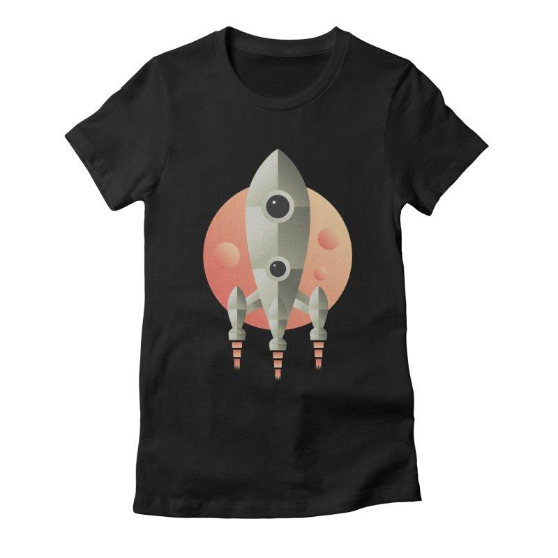 Rocket Women's Fitted T-Shirt by leffegoldstein's Artist Shop