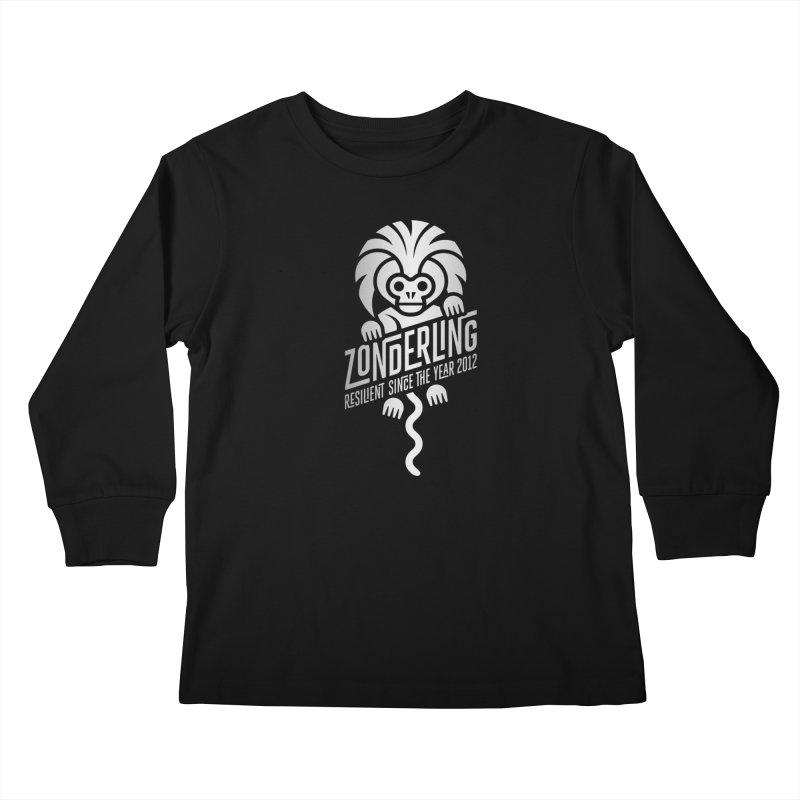 Zonderling Cotton Top Tamarin Monkey Kids Longsleeve T-Shirt by leffegoldstein's Artist Shop