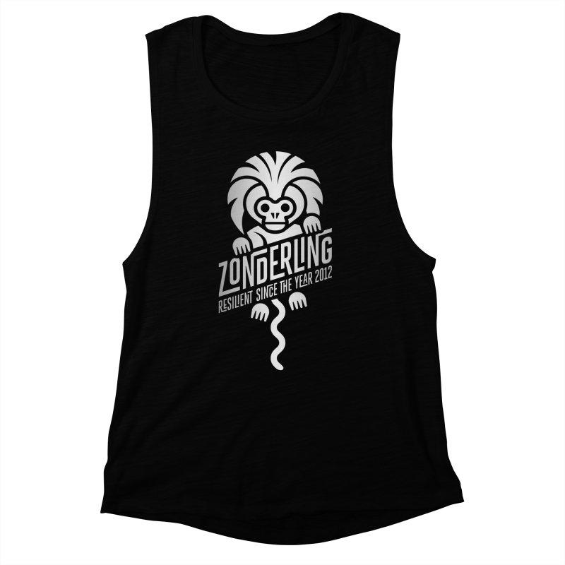 Zonderling Cotton Top Tamarin Monkey Women's Muscle Tank by leffegoldstein's Artist Shop