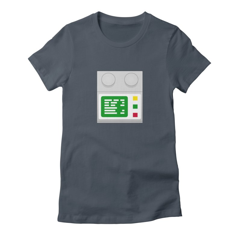 My First Computer Women's Fitted T-Shirt by left brain shirts