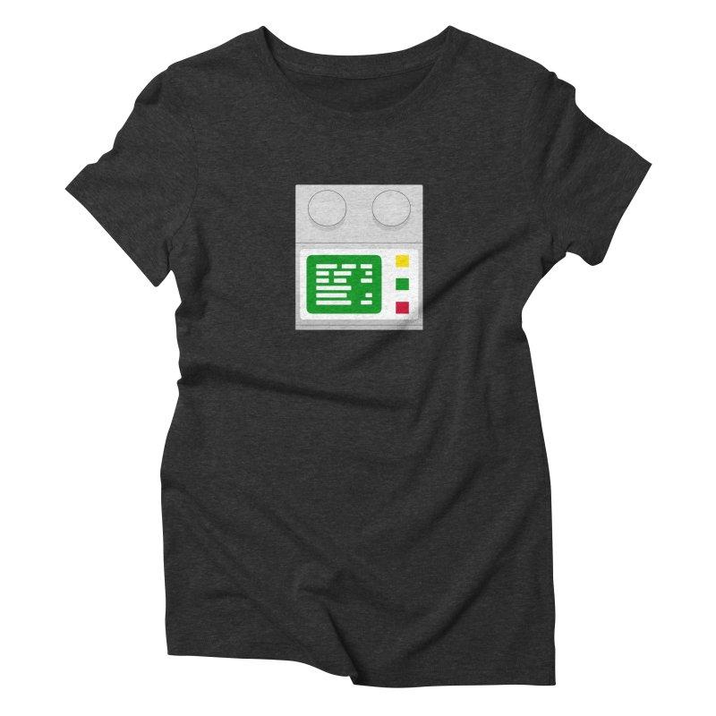 My First Computer Women's Triblend T-shirt by left brain shirts