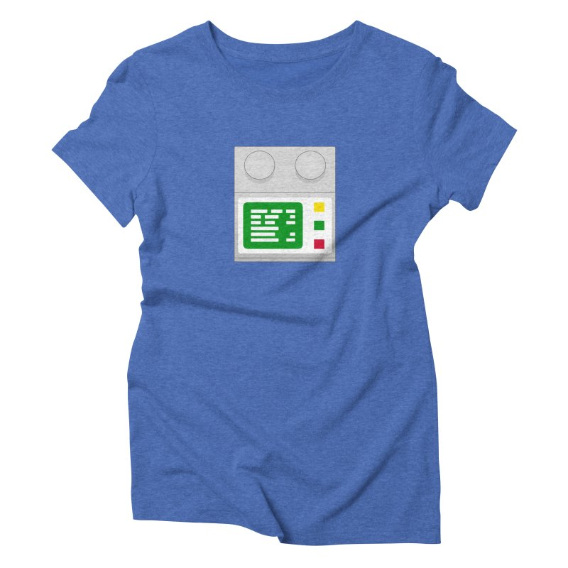 My First Computer Women's Triblend T-Shirt by left brain shirts
