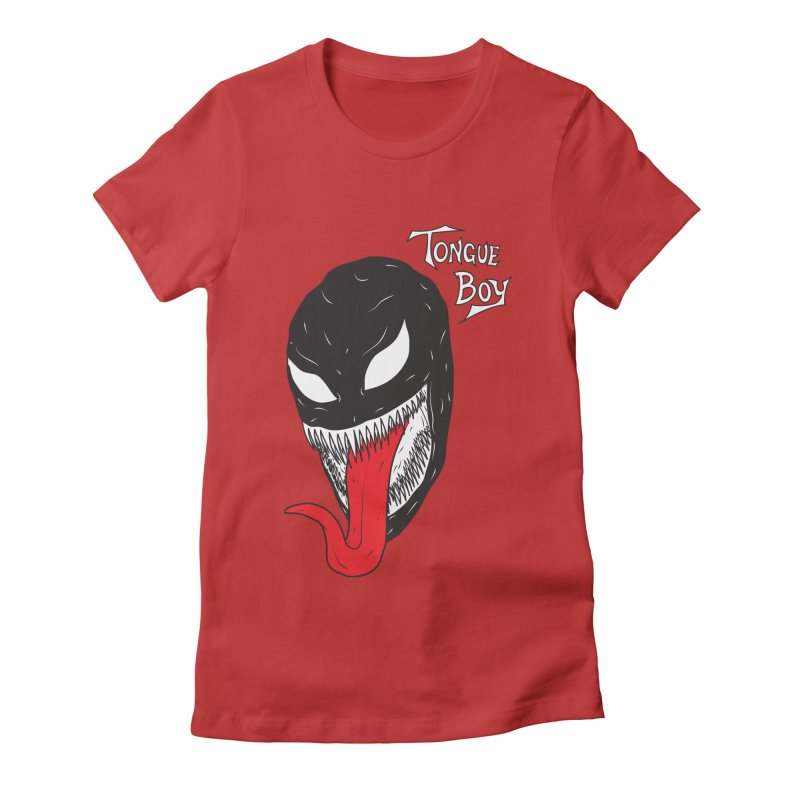 Tongue Boy - Venom Women's Fitted T-Shirt by lefteyeburns's Artist Shop