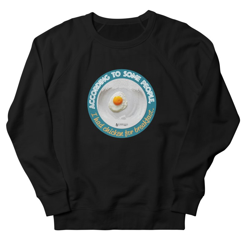 Sunny side up Women's French Terry Sweatshirt by Lefthugger
