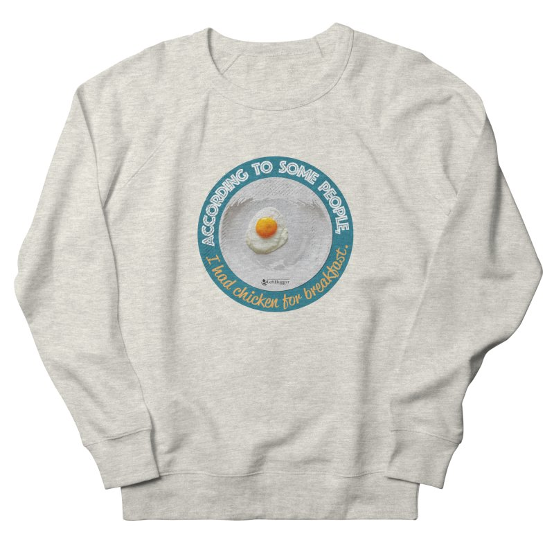 Sunny side up Men's French Terry Sweatshirt by Lefthugger