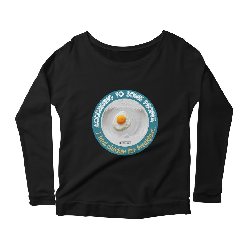 Sunny side up Women's Scoop Neck Longsleeve T-Shirt by Lefthugger