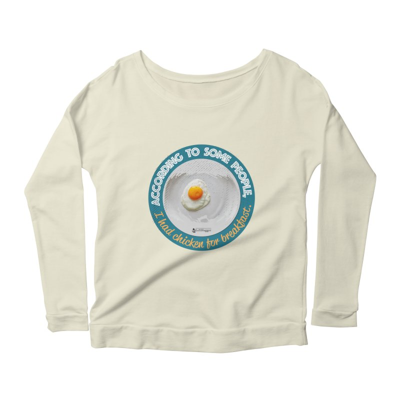 Sunny side up Women's Scoop Neck Longsleeve T-Shirt by Lefthugger