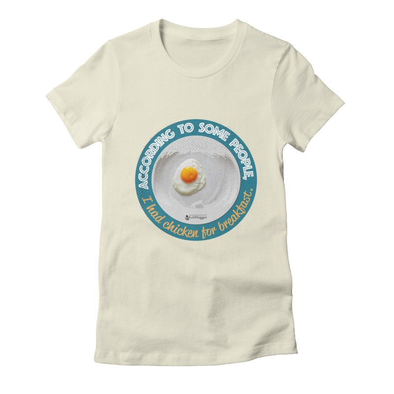 Sunny side up Women's Fitted T-Shirt by Lefthugger