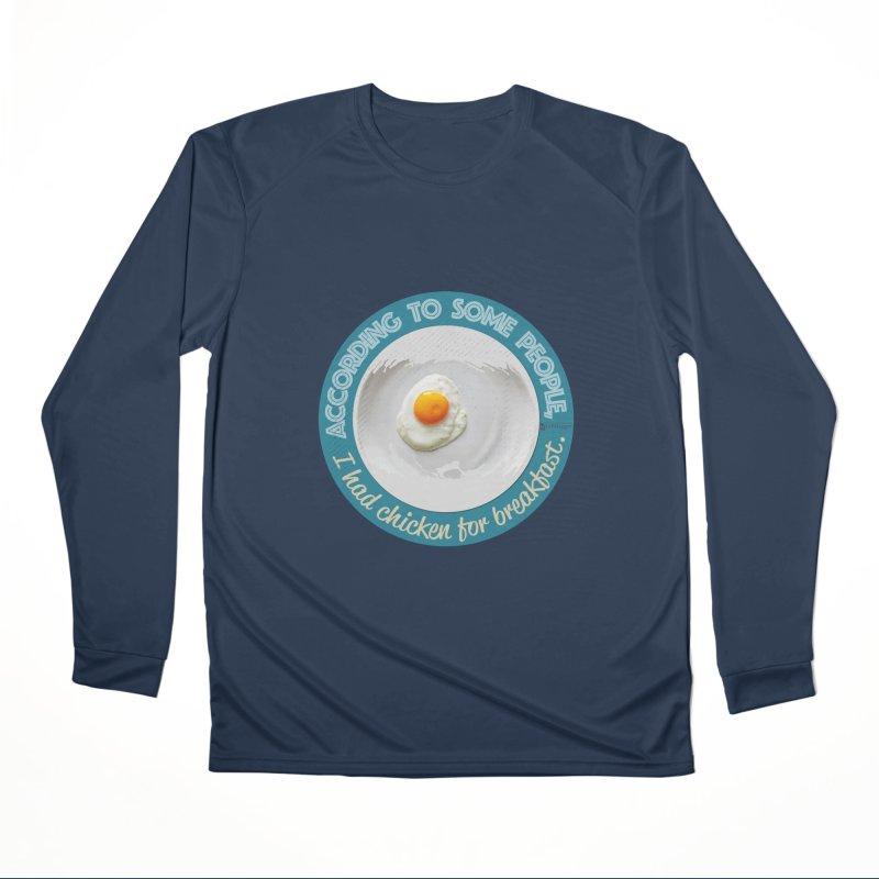 Sunny side up Women's Performance Unisex Longsleeve T-Shirt by Lefthugger