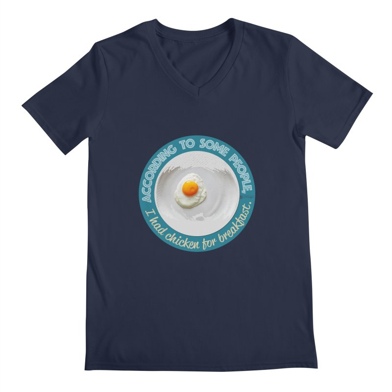 Sunny side up Men's Regular V-Neck by Lefthugger