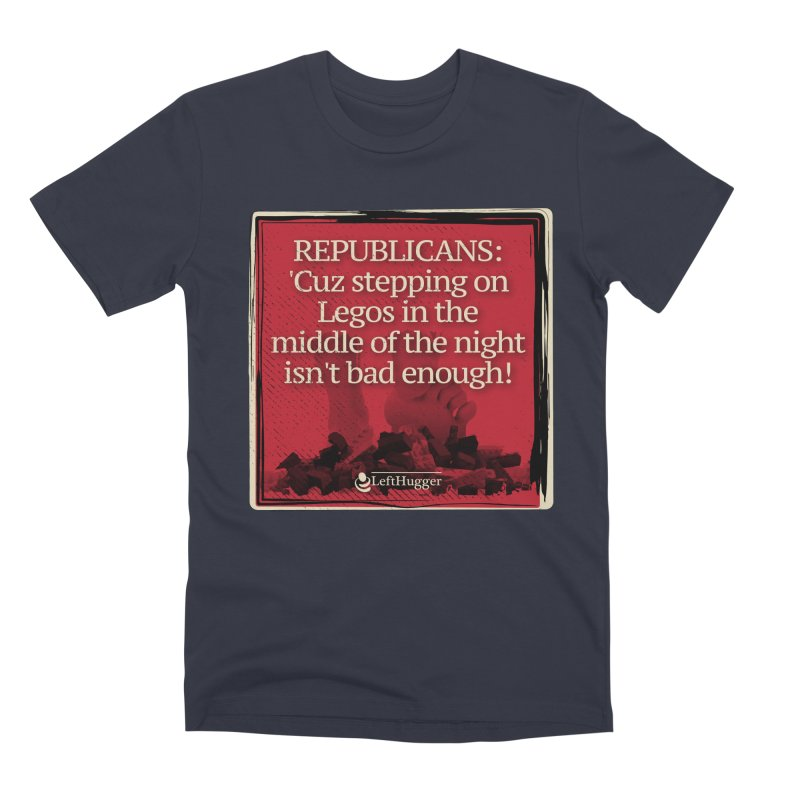 Republican legos Men's Premium T-Shirt by Lefthugger