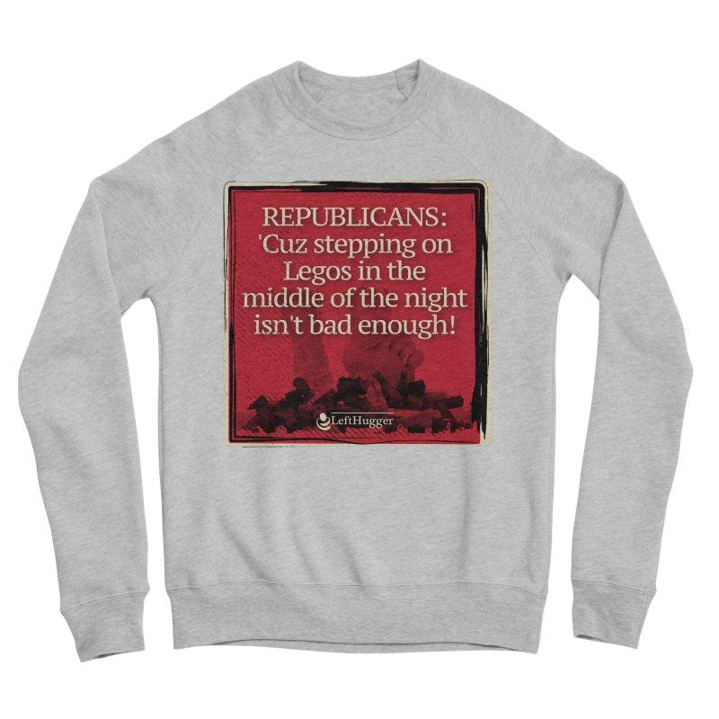 Republican legos Women's Sponge Fleece Sweatshirt by Lefthugger