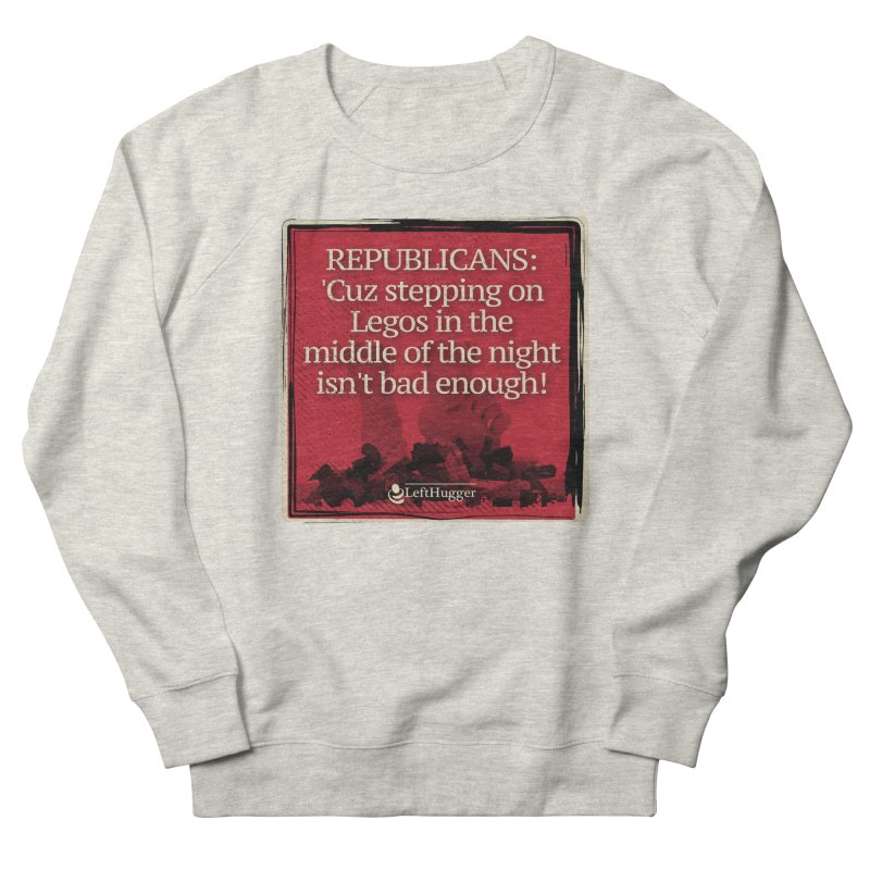 Republican legos Women's French Terry Sweatshirt by Lefthugger